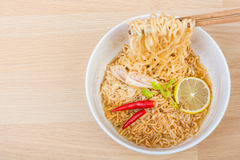 Hot and spicy lap instant noodle Royalty Free Stock Photos