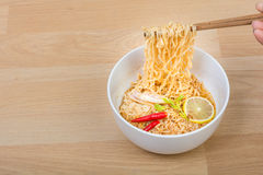 Hot and spicy lap instant noodle Royalty Free Stock Image