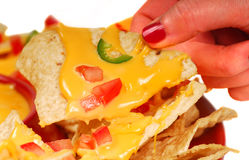 Hot and spicy Nachos stock photography