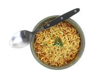 Hot Spicy Noodle Soup Spoon Resting Side Stock Photos