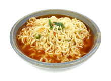 Hot Spicy Noodle Vegetable Soup Royalty Free Stock Photos
