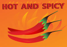 Hot and spicy orange background. Vector Stock Photography