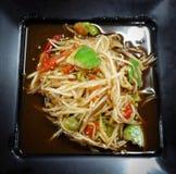 Hot and spicy papaya salad, Thai style Royalty Free Stock Photo