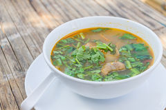 Hot and spicy pork rib hot pot with tamarind Royalty Free Stock Image