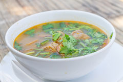Hot and spicy pork rib hot pot with tamarind Royalty Free Stock Photography
