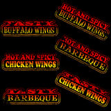 Hot and Spicy Rubber Stamps Royalty Free Stock Images