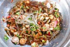 Salad Fresh small shrimp. Hot and spicy salad Fresh small shrimp Royalty Free Stock Photography