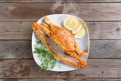 Hot and spicy sauce blue crab Royalty Free Stock Photos