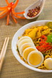 Hot and spicy Singapore Curry Noodle Stock Photos