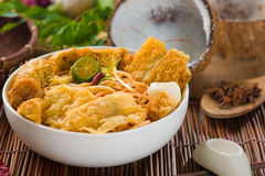 Hot and spicy Singapore food Curry Noodle Stock Images