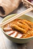 Hot Curry Laksa Noodles cuisine Stock Photos