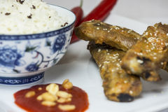 Hot and spicy spareribs Royalty Free Stock Photos