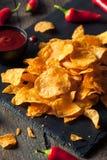 Hot Spicy Sriracha Potato Chips Royalty Free Stock Photos