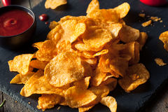 Hot Spicy Sriracha Potato Chips Stock Image