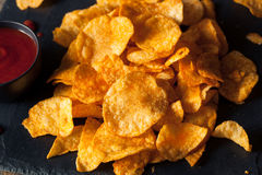 Hot Spicy Sriracha Potato Chips Stock Images
