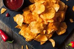 Hot Spicy Sriracha Potato Chips Royalty Free Stock Photography