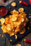 Hot Spicy Sriracha Potato Chips Stock Photo