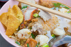Hot and Spicy Tom Yum Noodle Stock Photography