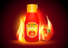 Hot and Spicy Tomato Ketchup. Stock Photo
