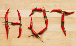 Hot spicy word Royalty Free Stock Photos