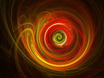 Hot spiral wheel. Abstract chaos colorful spiral wheel dark background Stock Photos
