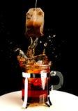 Hot splash of tea Stock Image