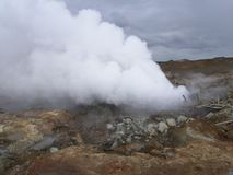 Hot spot in iceland stock image