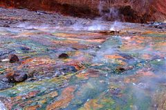 Hot spring. Natural hot spring in Changbai Mountain royalty free stock images