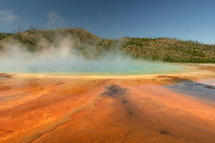Hot spring. Yellowstone National Park Stock Images