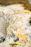 Hot spring abstract. Abstract patterns in the thermal hot springs in Yellowstone National Park Royalty Free Stock Image