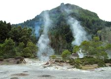 Hot spring at the Azores Stock Images