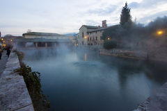 Hot spring baths of hot water Royalty Free Stock Image