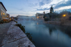 Hot spring baths of hot water Royalty Free Stock Photography
