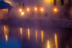 Hot spring baths of hot water Stock Image