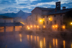 Hot spring baths of hot water Stock Images