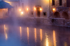 Hot spring baths of hot water Stock Photo