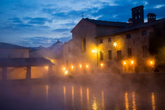 Hot spring baths of hot water Royalty Free Stock Photo