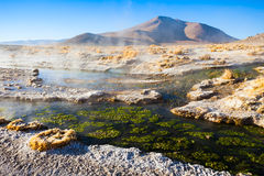 Hot spring, Bolivia Royalty Free Stock Photography