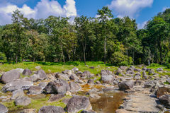 Hot spring at chaeson National Park, Lampang Province, Thailand. Landscape Stock Images