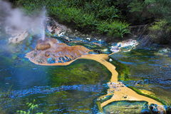 Hot spring crater Royalty Free Stock Images