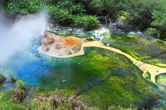 Hot spring crater Stock Photos