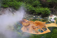 Hot spring crater Stock Image