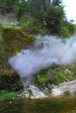Hot spring crater Stock Images
