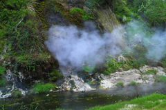 Hot spring crater Royalty Free Stock Photos