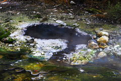 Hot spring crater Royalty Free Stock Image