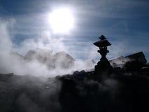 Hot-spring de Kusatsu, Japon image libre de droits