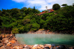 The hot spring royalty free stock photo