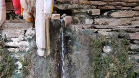 Hot spring, hot water. Hot spring water in the mountains stock video