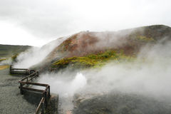 Hot spring in Iceland Stock Photos