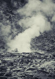 Hot spring in Indonesian vulcano aerea. Artistic processed photo Royalty Free Stock Photo